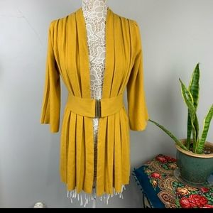 Anthropologie mustard colored sweater